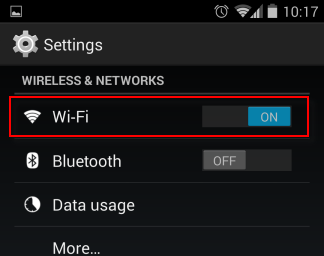 wireless and network android