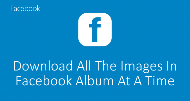 how to download facebook photos all at once